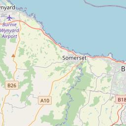 Distance from devonport to burnie